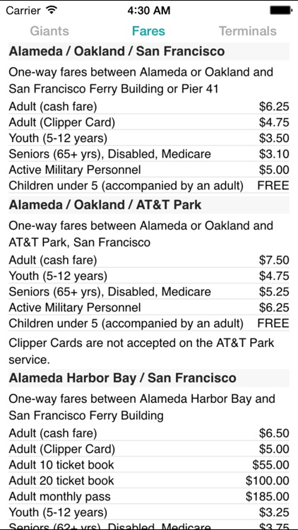 SF Bay Ferry Times screenshot-3