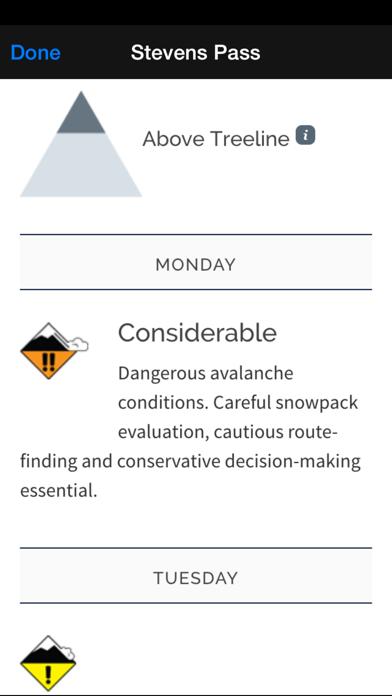 Avalanche Forecasts screenshot three