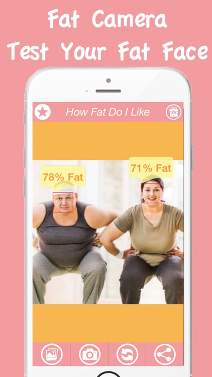 Fat Camera Plus Free App - Guess Fitness On You Challenged Face Photo