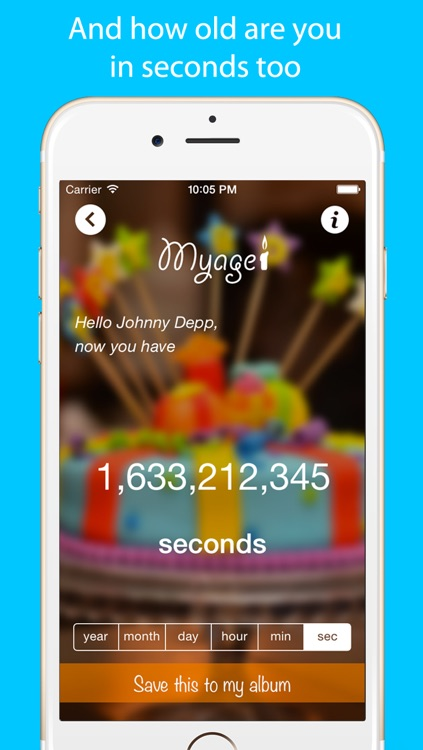 MyAge App Calculate your age screenshot-3