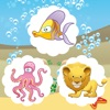 A Find the Mistake Ocean Game for Children: Learn and Play with Water Animals