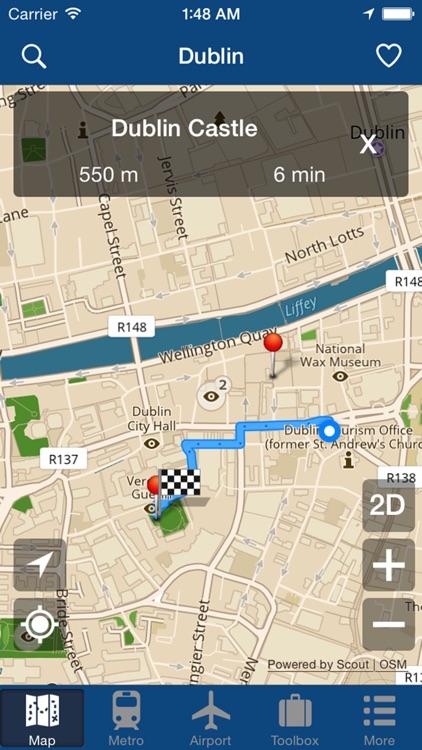 Dublin Offline Map - City Metro Airport screenshot-4