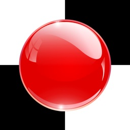 A Red Ball Bouncing in White Tile