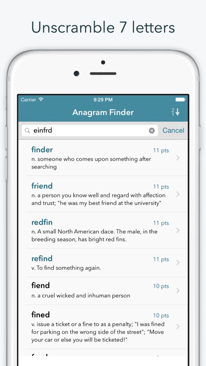 """Word Lookup Free - Dictionary and Anagram Finder """"for Words With Friends"""""""