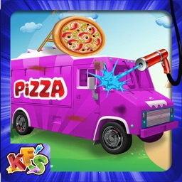 Pizza Truck Wash - Dirty, messy and dusty car washing and crazy clean up adventure game