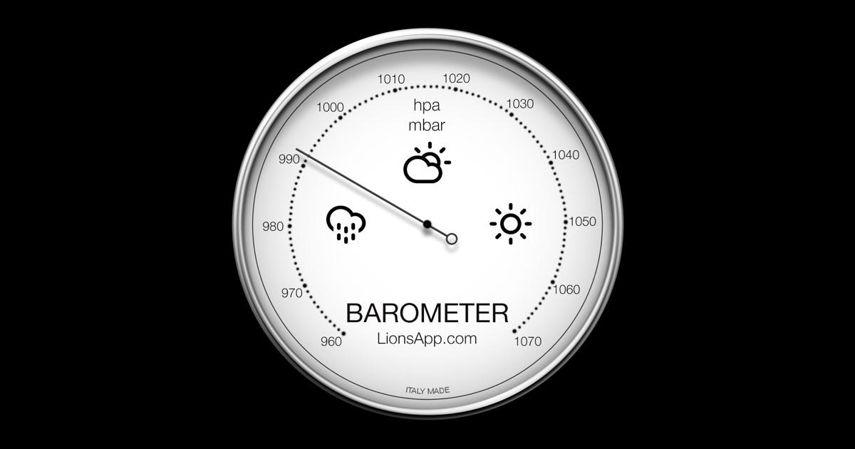 barometer atmospheric pressure on the mac app store. Black Bedroom Furniture Sets. Home Design Ideas