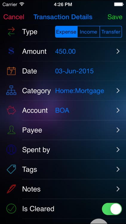 Budget n Expense Pro : Personal Expense Tracker and Account Manager