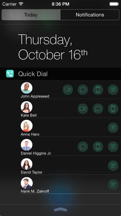 Quick Dial Widget