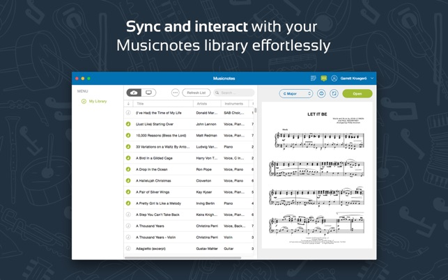 sheet music app for mac