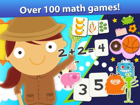Screenshot #1 for Animal Math Games for Kids in Pre-K, Kindergarten and 1st Grade Learning Numbers, Counting, Addition and Subtraction Free