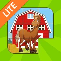 Kids Sliding Puzzle Horses free