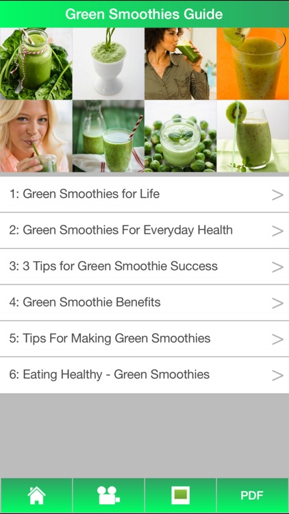 Green Smoothies Guide - Learn How To Make Green Smoothies For Healthy ! screenshot-0