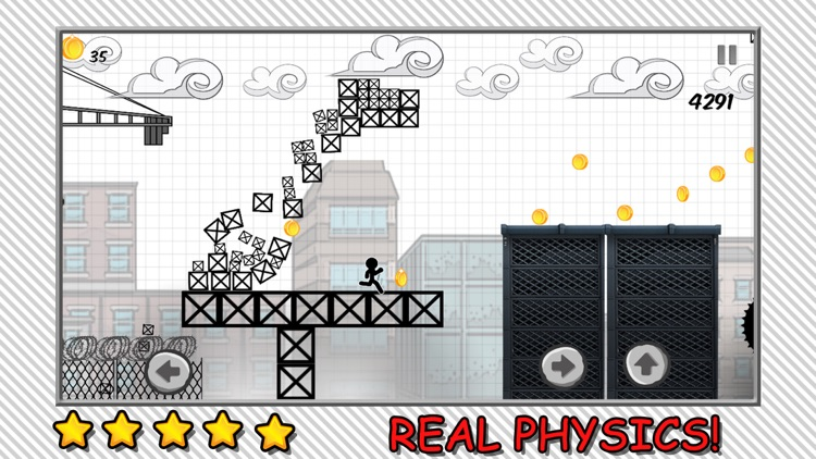 Line Rooftop Run : Stickman Escape Runner Free Edition