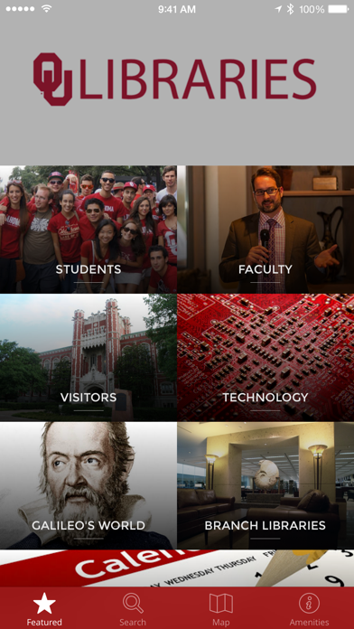 OU Libraries NavApp screenshot one