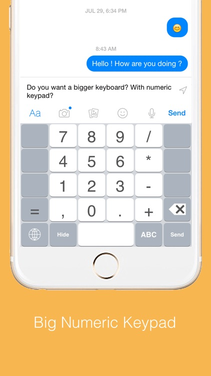 Highlighted Keyboard - Extra large Keyboard with next key hints screenshot-3