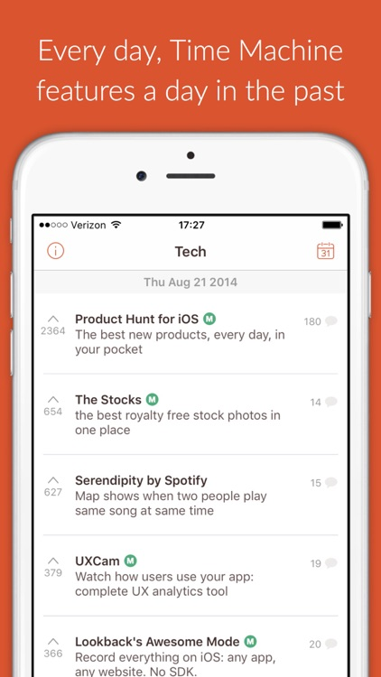Time Machine - re-discover the best new products from Product Hunt screenshot-0
