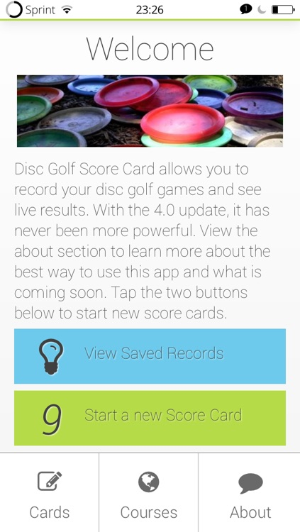 Score Card for Disc Golf