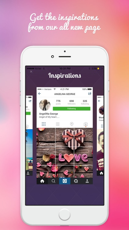 Grid Post for instagram-Photo Editor Booth to Upload Full Banner On Ig