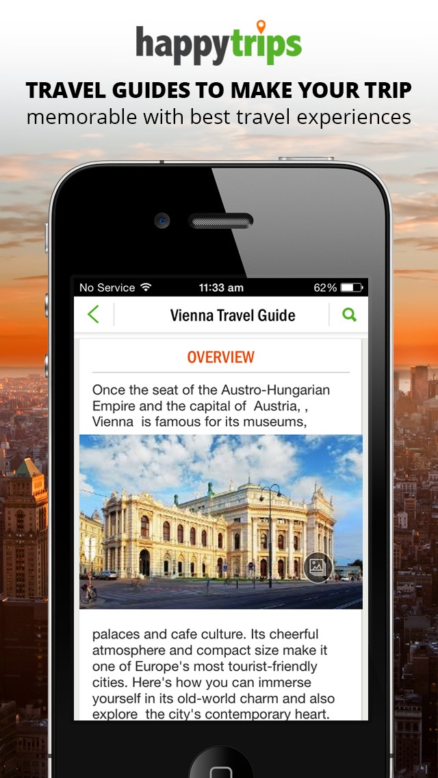 HappyTrips Travel Guide Screenshot