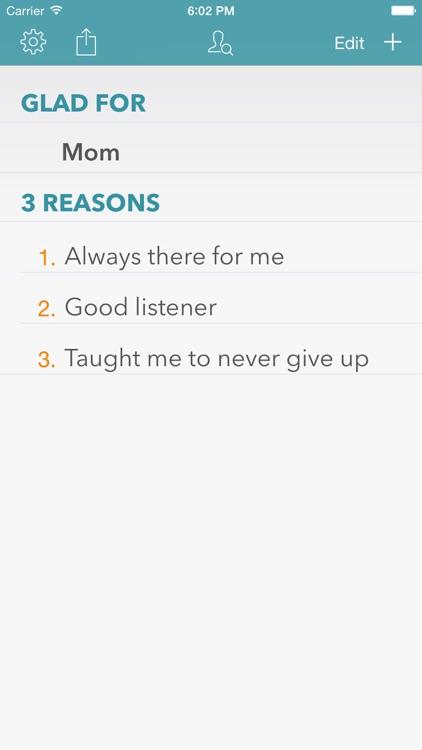 3 Reasons I Am Glad For Gratitude Journal screenshot-0
