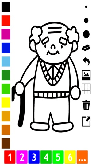 A Family Coloring Book For Children Learn To Draw And Color Grand Parents Kids On The App Store
