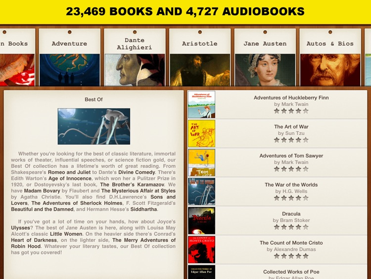 Classicly HD ~ 26,416 books and audiobooks. The ultimate library.