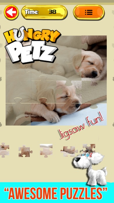 Puppy Dog Jigsaw Puzzles FREE - Toddler & Kids Games Screenshot on iOS