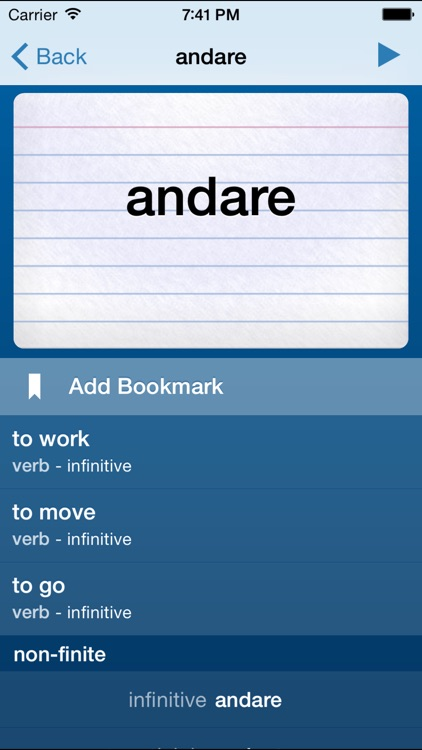 Italian Verbs Trainer screenshot-0