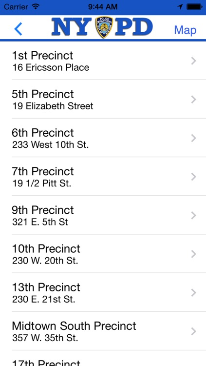 NYPD Precincts