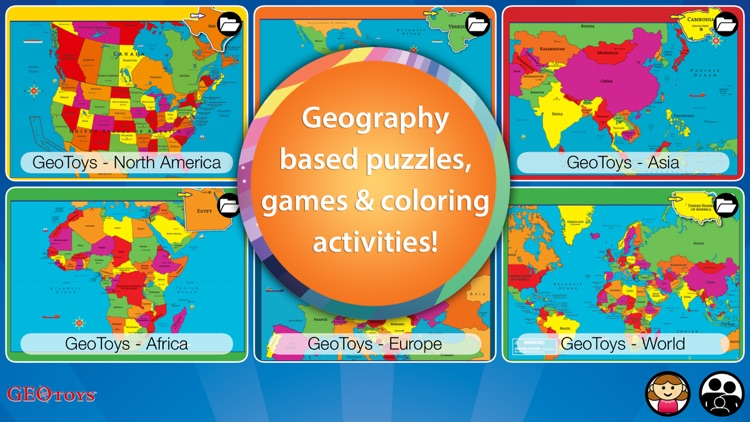 Geography Puzzles and Learning Games for Children by Geo Toys