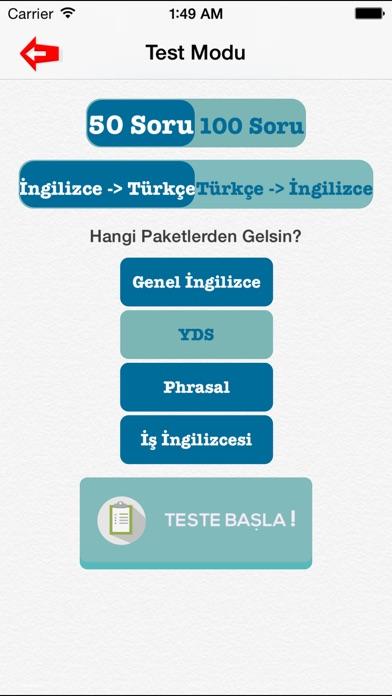 Screenshot for İngilizce Kelime Testleri 5000 Kelime - YDS -TOEFL -ingilizce kelime ezberleme in Turkey App Store
