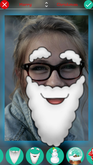 Christmas Stickers - Photo Booth Editor with Holiday Christmas Stickersのおすすめ画像3