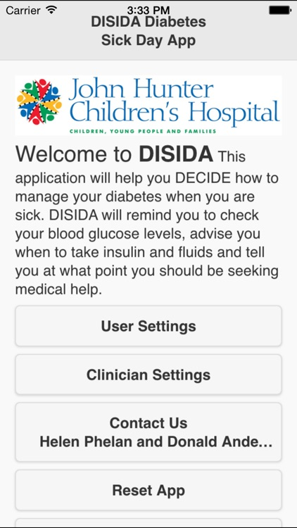DiSiDa - Diabetes Sick Day