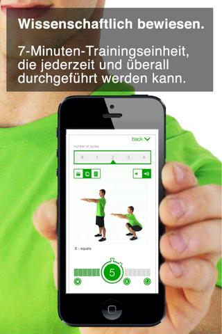 7 Minute Workout Challenge screenshot 1