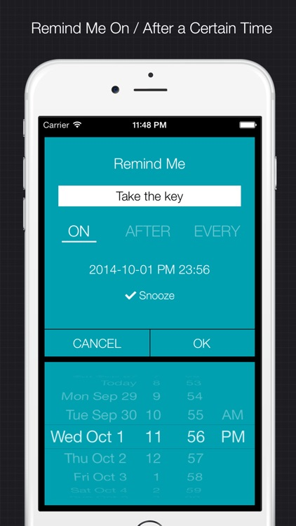 XReminder - simple & quick reminder to set alarm for important things screenshot-3