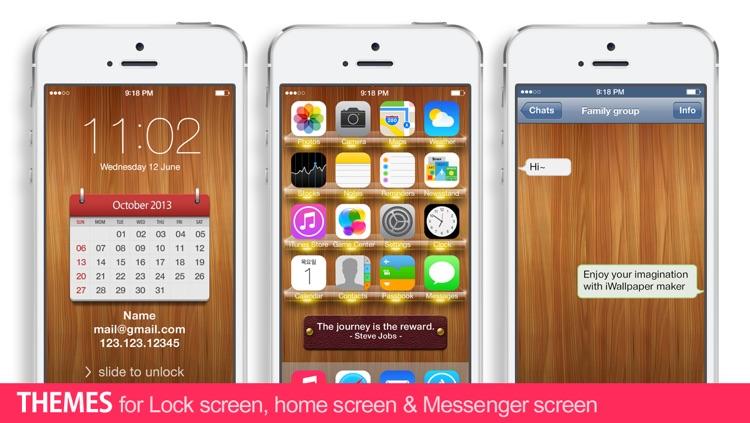 iWallpaper Maker : Custom theme Wallpapers ( for home screen, lock screen, kakao, whatsapp, Messenger)