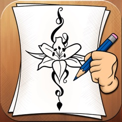Learning To Draw Flower Tattoo Designs