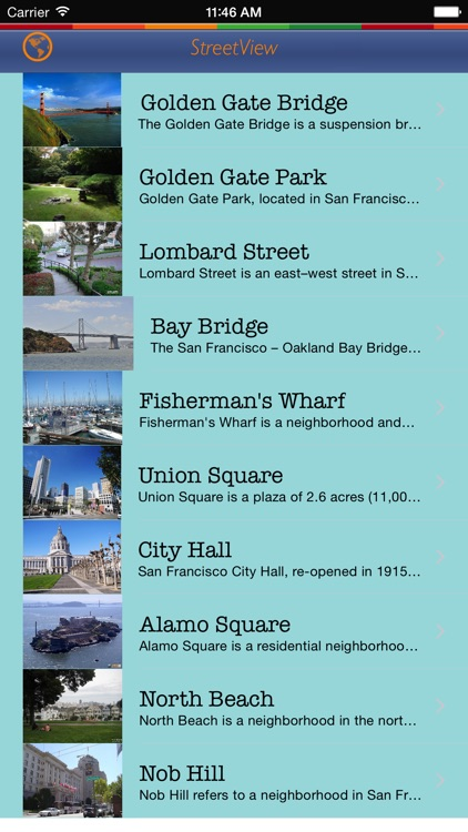 San Francisco Tour Guide: Best Offline Maps with StreetView and Emergency Help Info screenshot-3