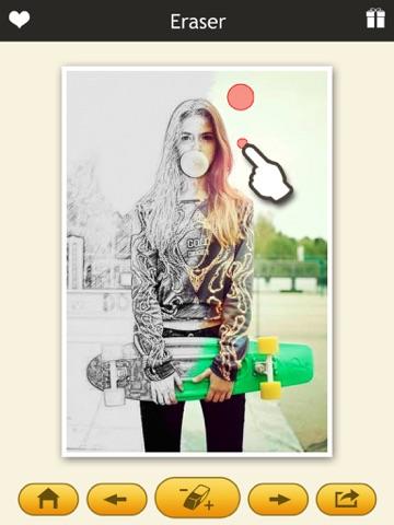 Photo Sketch Eraser - My Pencil Filter & Color Effects Editor-ipad-1