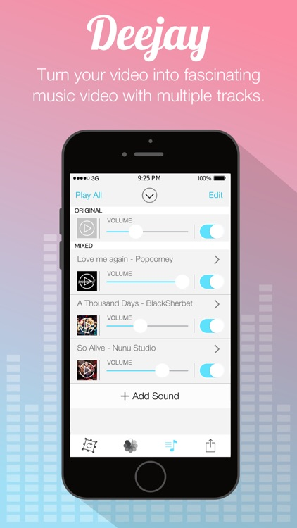 Video Sound Pro for Instagram - Add and Merge 10 Background Musics to Your Recorded Video Clips screenshot-2