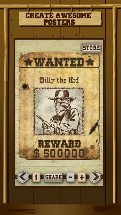 Wild West Wanted Poster Maker - Make Your Own Wild West Outlaw Photo Mug Shots screenshot one