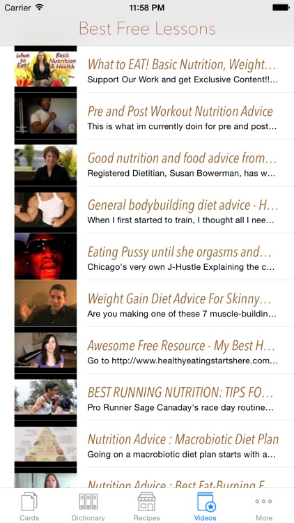 Nutrition Lookup: Facts and Flashcard Dictionary with Free Video Lessons screenshot-3