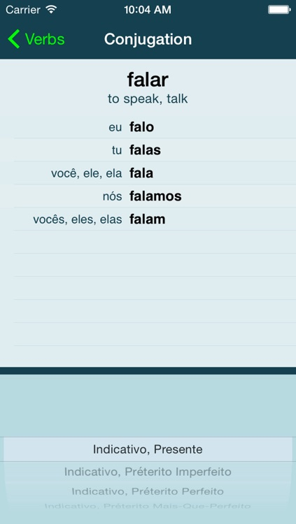 Portuguese Verbs + screenshot-1