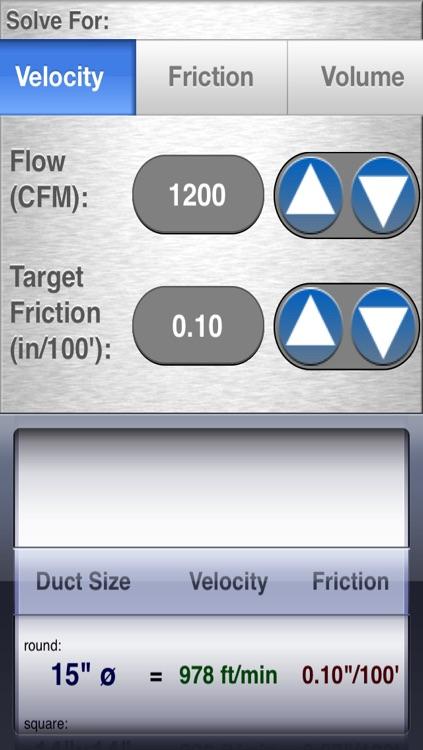 HVAC Duct Size Calculator