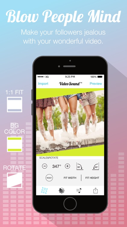 Video Sound for Instagram - Free Add Background Music to Video Clips and Share to Instagram screenshot-3