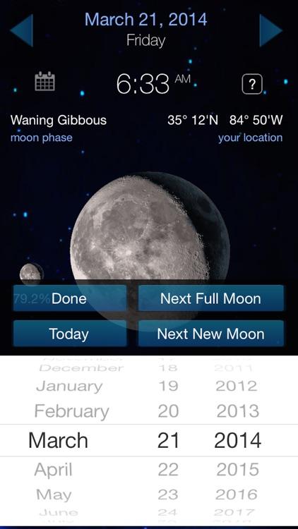 Lunar Phase Full moon calendar