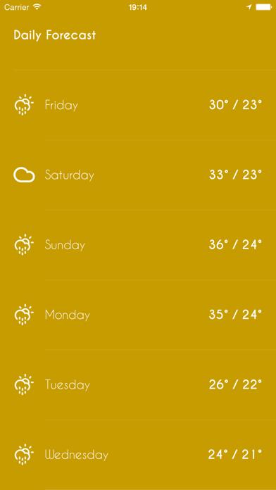 iWeather - Minimal, simple, clean weather appのおすすめ画像5