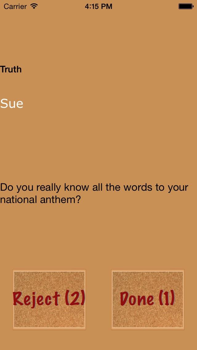 Truth or Dare Teens Game (Free) Screenshot