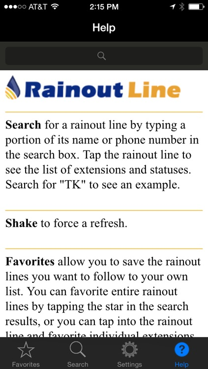 RainoutLine.com screenshot-3