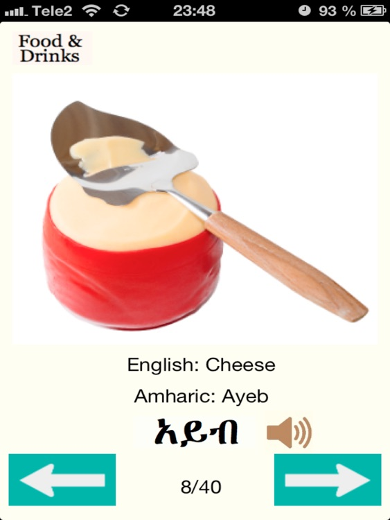 Amharic Words for Food Audio screenshot-4